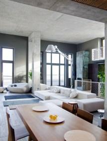 Industrial Loft Apartment Living Room