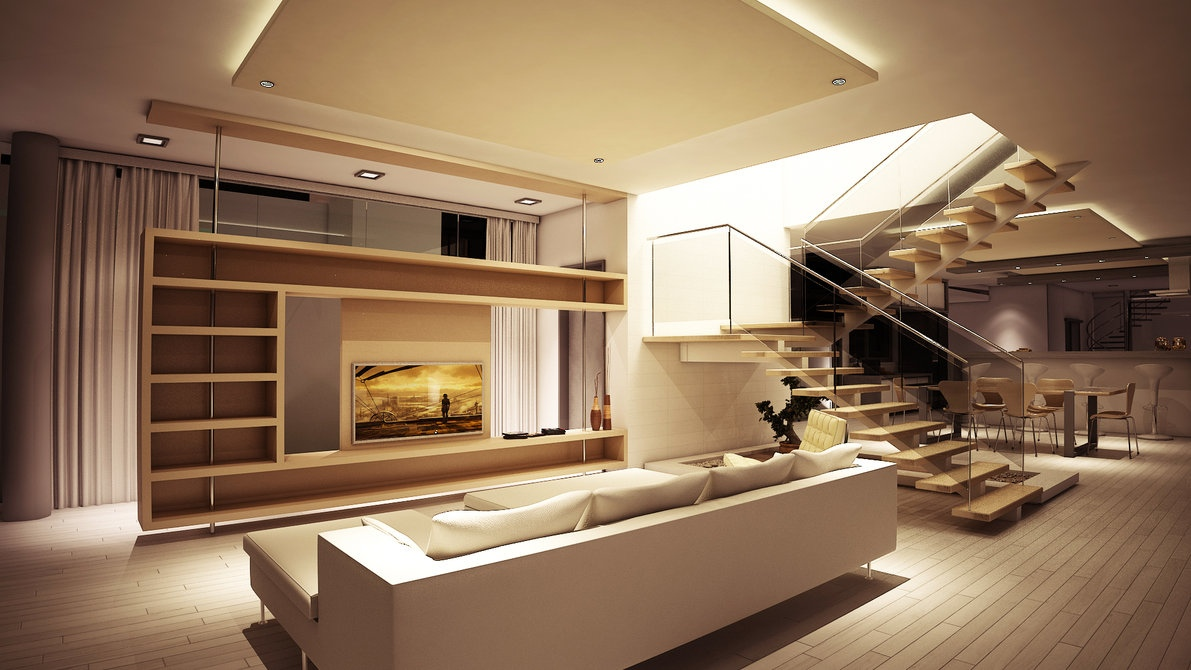 Pine living room storage divider wall  Interior Design Ideas