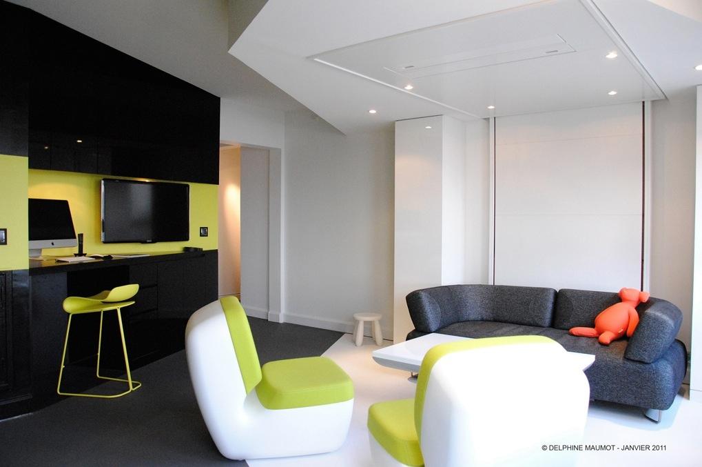 Green White Gray Living Room Interior Design Ideas Part 61