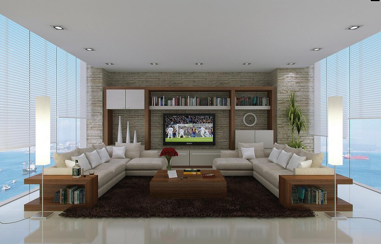 Neutral Living Room L Shaped Sofasinterior Design Ideas