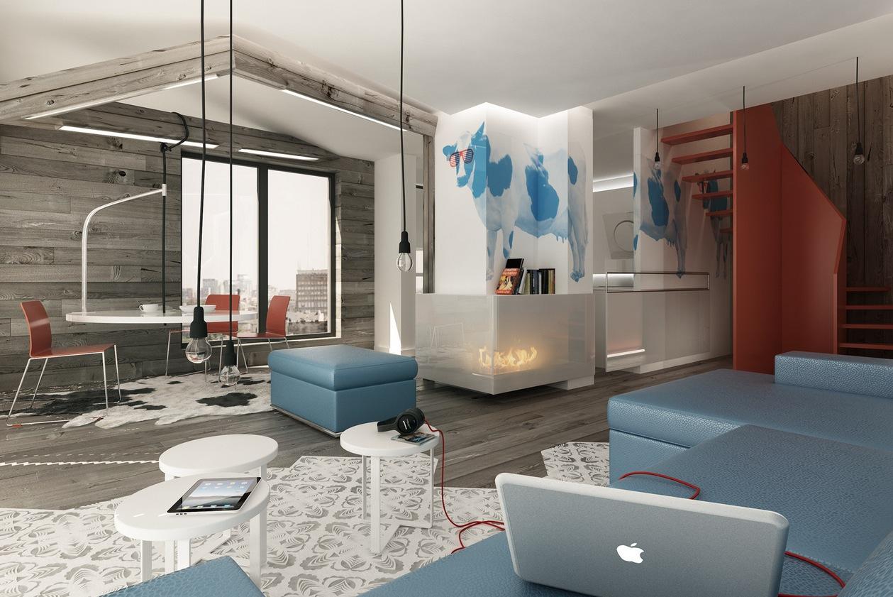 Blue Brown white decor scheme  Interior Design Ideas