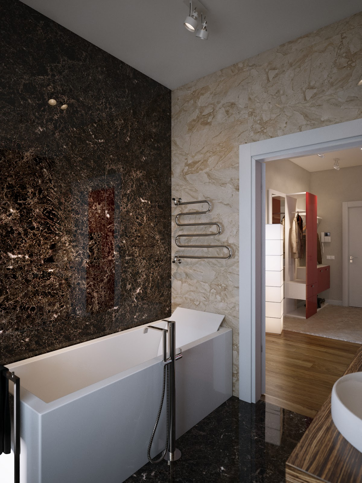 Bathroom Walls Ideas Brown Cream Marble Bathroom Walls Interior Design Ideas