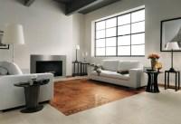 Brown white modern living room tiled floor | Interior ...