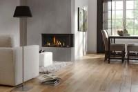 Gray white living room diner fireplace | Interior Design ...