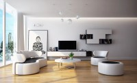 Modern Black white living room furniture | Interior Design ...