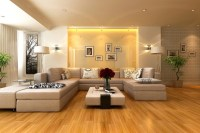 Neutral living room gloss feature wall | Interior Design ...