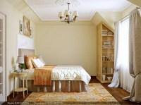 Orange cream bedroom rug | Interior Design Ideas.