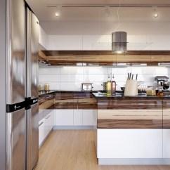 White Lacquer Kitchen Cabinets Amazon Chairs Walnut Gloss Interior Design Ideas