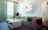 White green living room