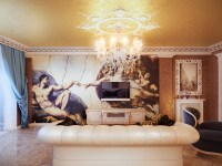 Classical style living room wall mural | Interior Design ...