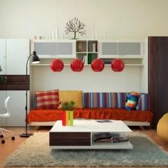 Living Room Office Ideas For Shelving In Red White Decor Interior Design