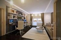 White brown home office | Interior Design Ideas.