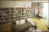 living room library | Interior Design Ideas.