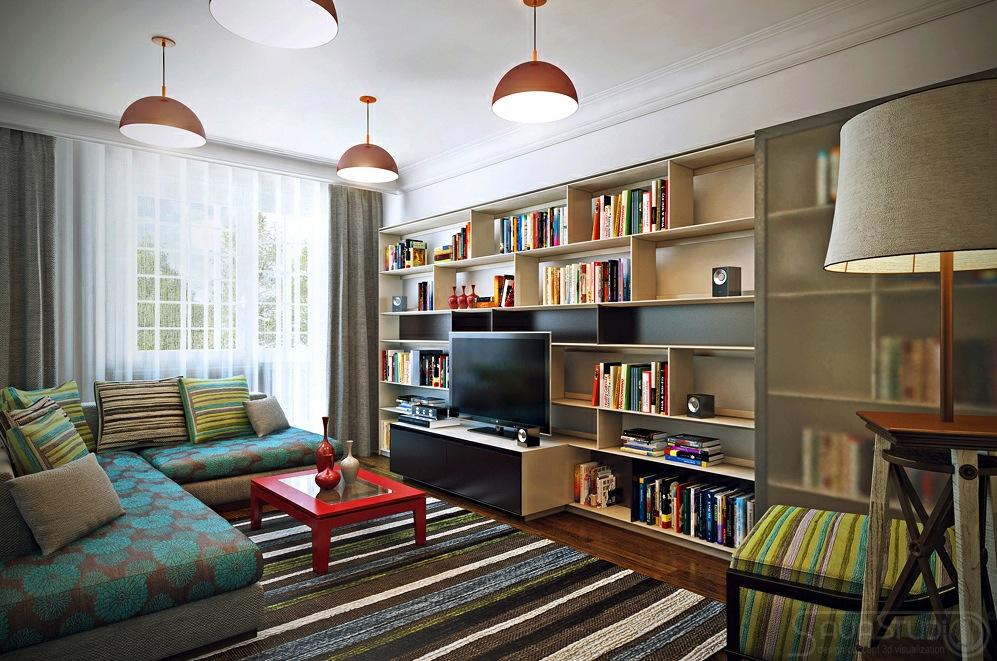 Colorful modern decor   Interior Design Ideas.