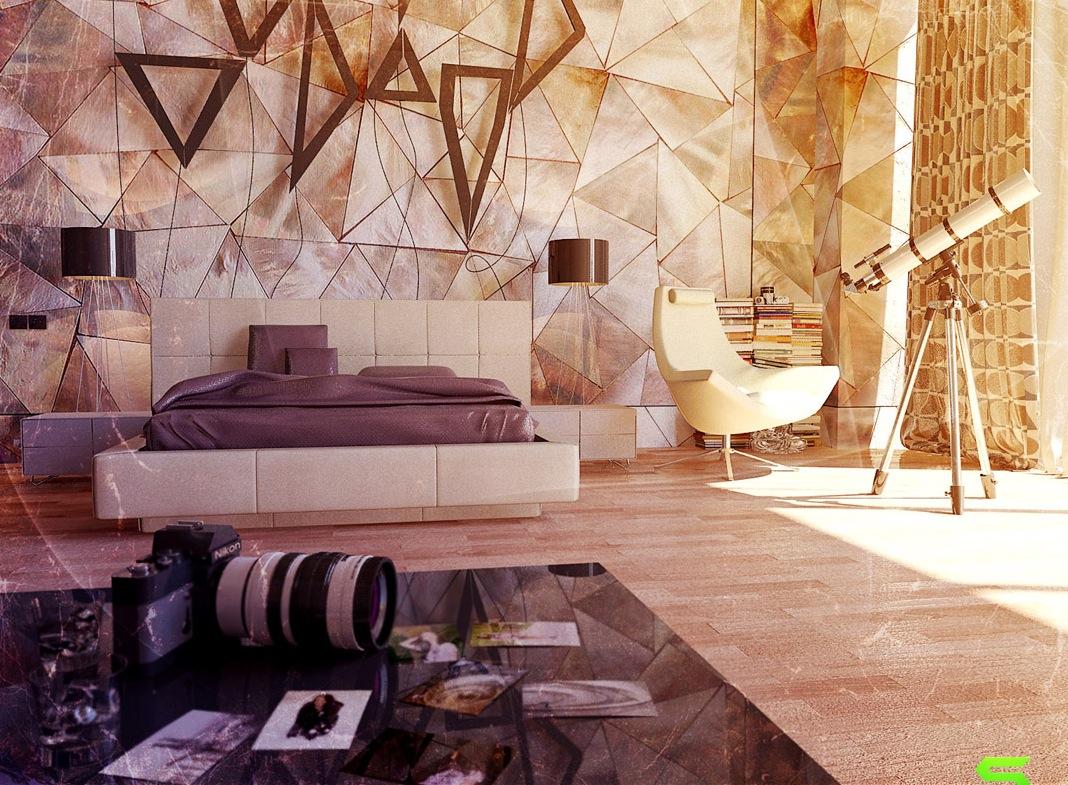 Contemporary art wall  Interior Design Ideas