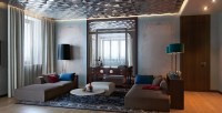 Gray blue living room | Interior Design Ideas.
