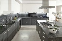 Gray white kitchen | Interior Design Ideas.