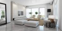 Modern white living room   Interior Design Ideas.