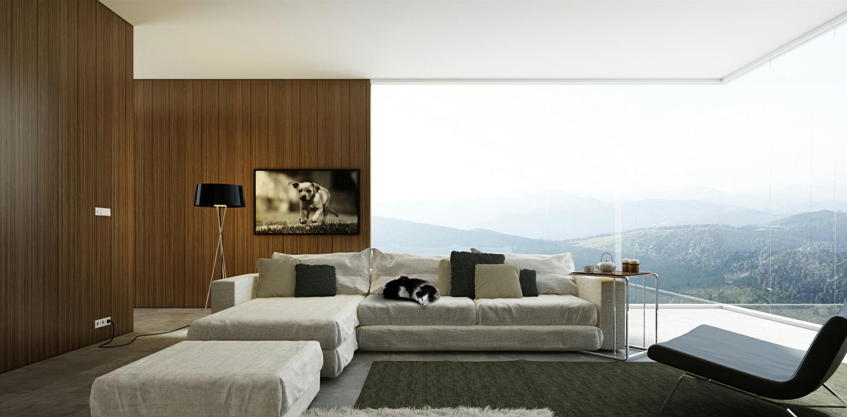 White chaise lounge sofa  Interior Design Ideas