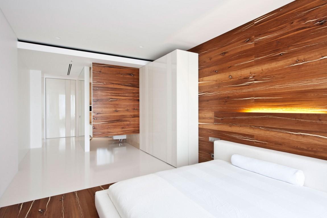 Apartment Awash with Walnut  White
