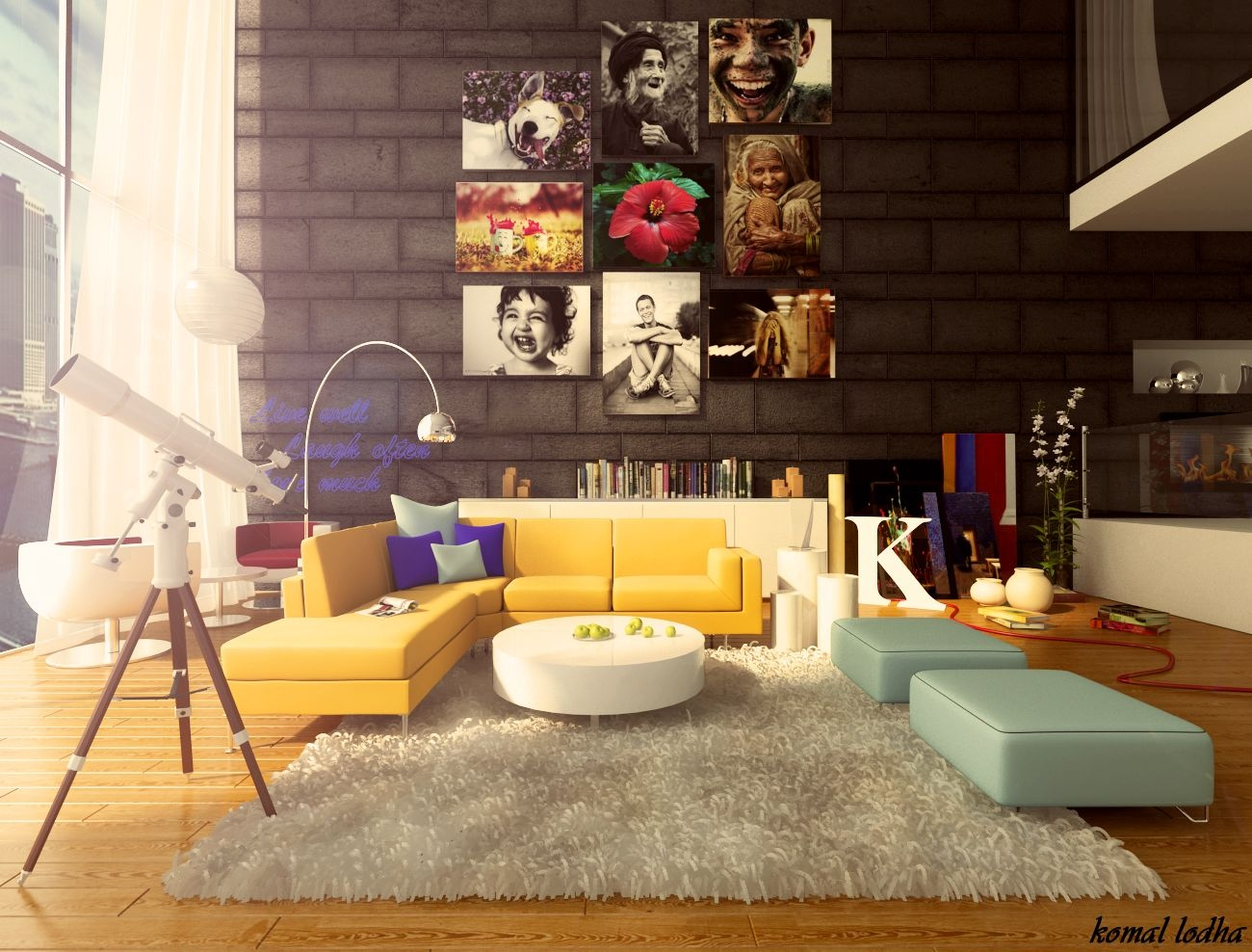 colorful living rooms country