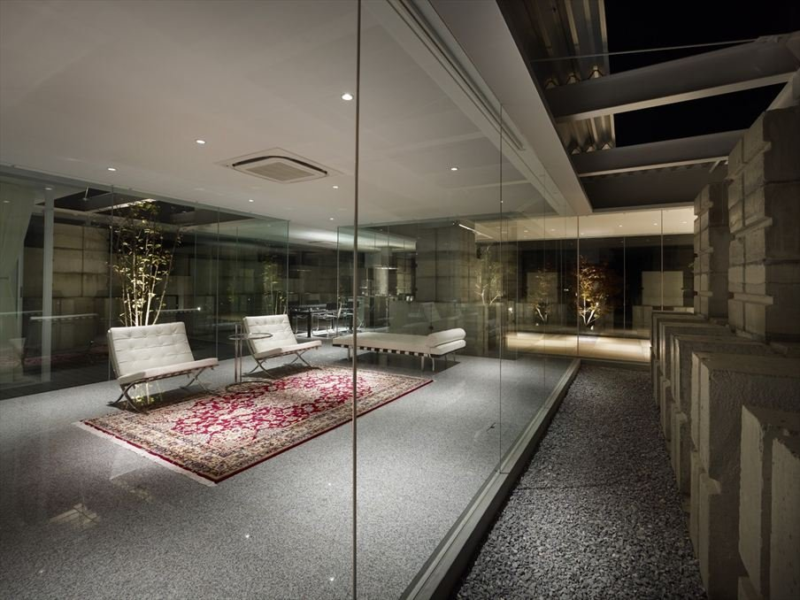 Glass walled living room  Interior Design Ideas