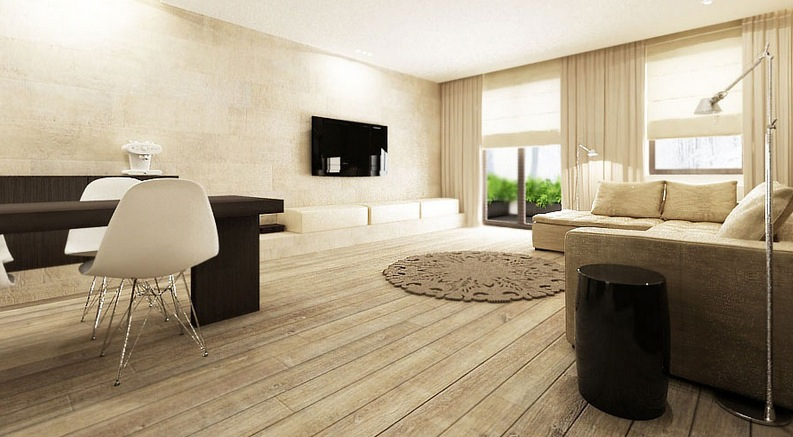 Natural wood flooring  Interior Design Ideas