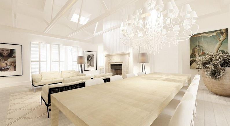 White cream dining lounge  Interior Design Ideas