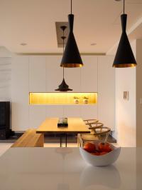 Black pendant lights | Interior Design Ideas.