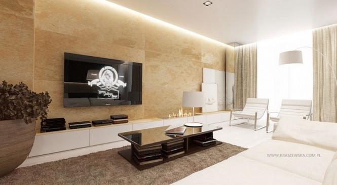 Cream brown white lounge