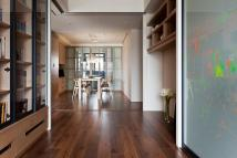 Retractable Interior Wall with a Apartment