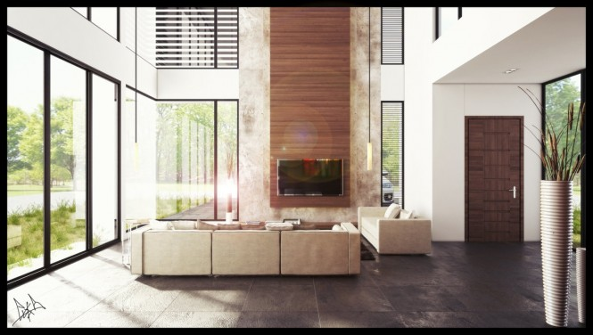 Via ElyasThe ideal placement for such a panel is as an extension of a roaring fireplace, or as a modern entertainment-wall backing towering from behind the television or projector screen.
