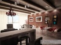 Red exposed brick wall | Interior Design Ideas.