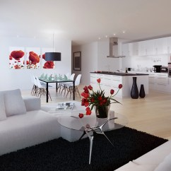 Red White And Black Living Room Ideas Decorate Small Apartment Decor Interior Design