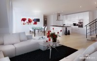 Red white black decor | Interior Design Ideas.
