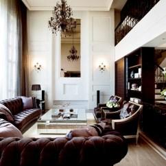 High Ceiling Living Room Decor Ideas Tartan Curtains Decorating