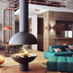 Burnt Orange Living Room Accessories Table Lamp For Industrial Lofts
