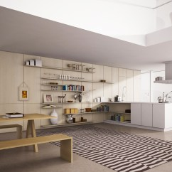 Open Kitchen Cabinets Modern Valance Shelves Inspiration