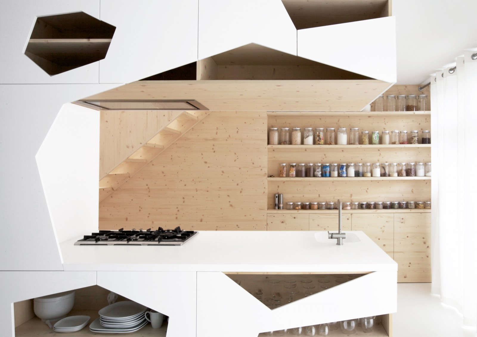 kitchen storage shelf professional faucet open shelves inspiration