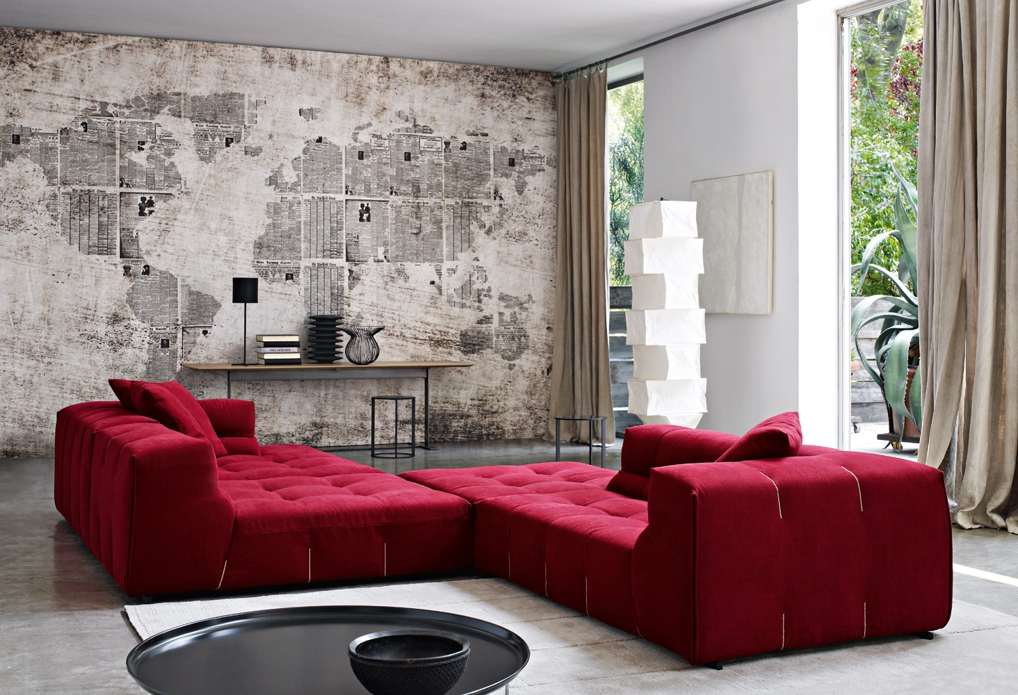 living room red sofa 3 seater ideas
