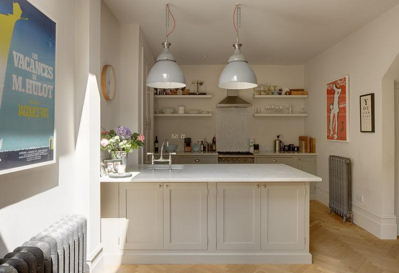 White breakfast bar  Interior Design Ideas