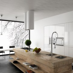 Contemporary Kitchen Island White Distressed Cabinets Unexpected Twists For Modern Kitchens
