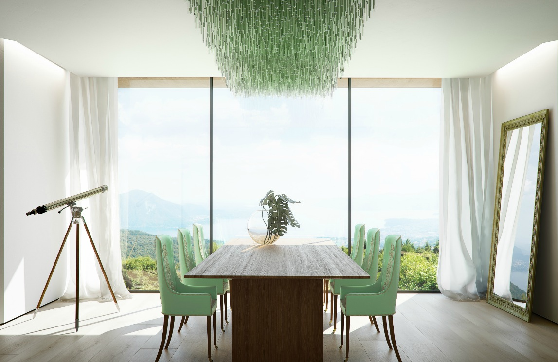 green dining room chairs chair seat covers patterns mint interior design ideas