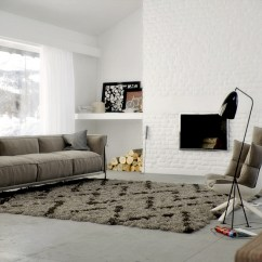 Living Room Ideas With Grey Leather Sofa The Centerstone Brown Rug | Interior Design Ideas.