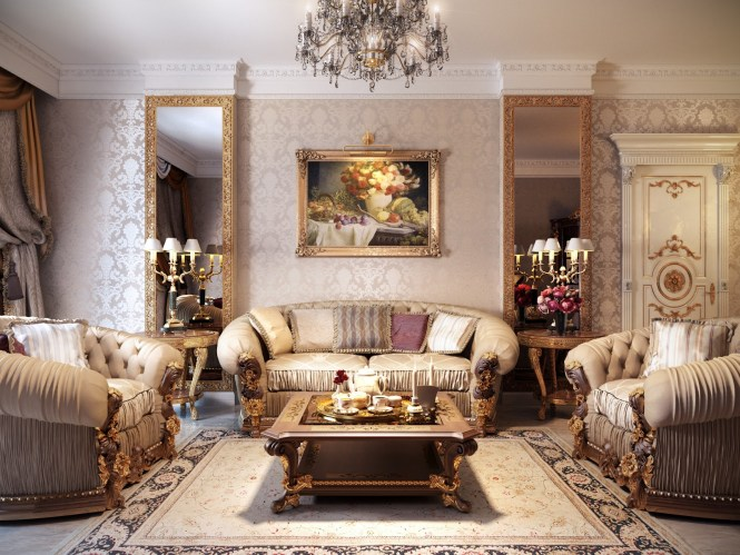 Luxurious Traditional Style Formal Living Room Furniture Set Have Ideas