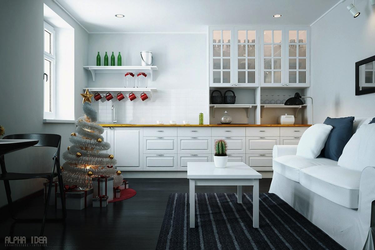 minimalist christmas decor  Interior Design Ideas