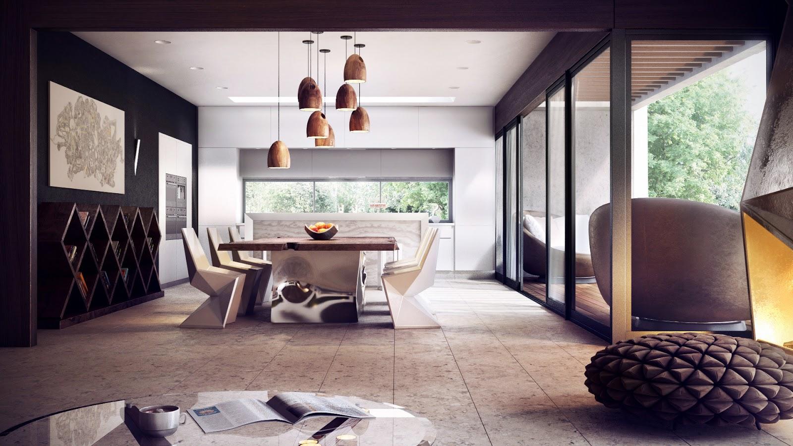 modern dining room  Interior Design Ideas