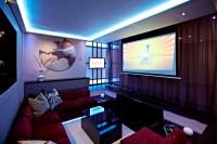 modern media room | Interior Design Ideas.