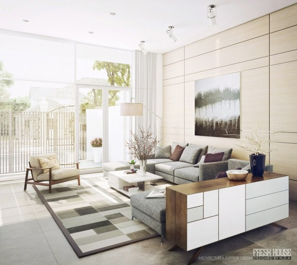 modern living room design ideas Light-Filled Contemporary Living Rooms