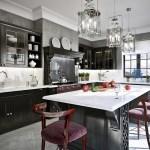 Grey And Black Traditional Kitchen Interior Design Ideas